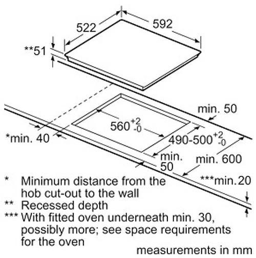 Kích thước cắt mặt đá âm